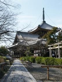 本法寺本堂と多宝塔