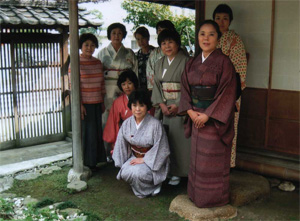 茶会後の記念写真